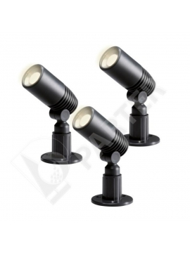 ALDER set, LED 3*2 W, Antracit